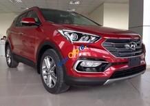 Bán xe Hyundai Santa Fe sản xuất 2017, màu đỏ, giá tốt