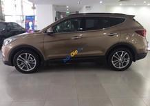 Bán xe Hyundai Santa Fe năm 2017, màu nâu