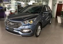 Bán Hyundai Santa Fe sản xuất 2017, màu xanh lam, nhập khẩu nguyên chiếc, giá tốt