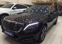 Bán ô tô Mercedes S500L đời 2015, màu nâu, xe còn bảo hành chính hãng
