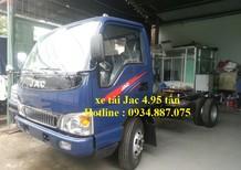 Bán xe tải Jac 4T9 (4.9 tấn) thùng dài 4.3m động cơ CN Isuzu