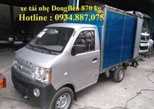 Bán trả góp xe tải Dongben 870kg thùng dài 2.5 mét động cơ GM Mỹ