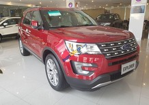 Ford Explorer 2017 màu đỏ, phiên bản 2.3L Ecoboost Limited nhập Mỹ, giao xe ngay hỗ trợ trả góp