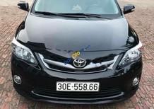 Bán xe cũ Toyota Corolla Altis 2.0V, sản xuất 2011 bản full option biển Hà Nội, màu đen, nội thất kem