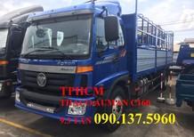 TP. HCM Thaco AUMAN C160 2017, màu bạc thùng kín tôn lạnh