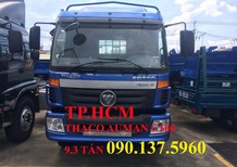 TP. HCM Thaco Auman C160 2017, màu xanh lam thùng kín inox 430