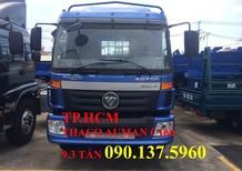 TP. HCM xe Thaco Auman C160 mới, màu vàng, thùng mui bạt inox 304