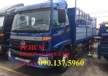 TP. HCM Thaco Auman C160 MỚI, màu xanh lam, thùng kín inox430