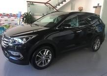 Cần bán xe Hyundai Santa Fe đời 2017, màu đen, giá chỉ 898 triệu
