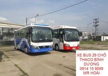 Cần bán xe khách 29 ghế Thaco Town TB82S 2017, màu xanh lam, 6 bầu hơi, bán trả góp