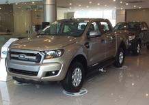 0968569188 Ford Vĩnh Phúc - Bán Ranger XLS 4x2 AT & MT đời 2017, màu vàng cát, hỗ trợ trả góp