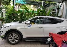 Cần bán xe Hyundai Santa Fe 2.4L 4WD đời 2015, màu trắng, tình trạng hoàn hảo