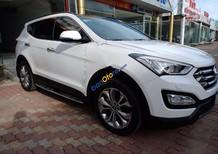 Bán Hyundai Santa Fe 2.4 đời 2015, màu trắng, hỗ trợ ngân hàng lên tới 75%