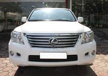 Lexus 570 màu trắng, nội thất kem. Sản xuất 2010, đk 2011