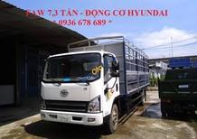 Bán xe tải Faw 7,3 tấn thùng mui bạt động cơ Hyundai, thùng dài 6.25m - L/H 0936 678 689