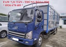 Bán FAW xe tải thùng sản xuất năm 2017, màu xanh lam