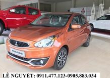 Mitsubishi Mirage màu cam, xe nhập khẩu, siêu lợi xăng, hỗ trợ trả góp, LH 0911477123