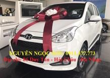 Bán ô tô Hyundai i10 mới 2018, màu trắng, hỗ trợ mua trả góp, 315 triệu. Lhệ: Ngọc Sơn: 0911.377.773