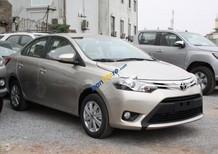 Bán Toyota Vios 1.5G năm 2017, màu vàng cát
