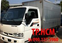 TP.HCM Thaco Kia K165S phiên bản mới thùng kín tôn đen, màu trắng, giá tốt