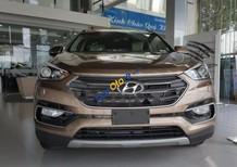 Bán Hyundai Santa Fe 2.4L 4WD đời 2017, màu nâu, giá tốt