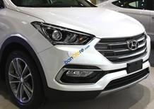 Bán ô tô Hyundai Santa Fe 2.4 sản xuất 2017, màu trắng, giá tốt