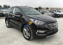 Bán xe Hyundai Santa Fe đời 2017, màu đen, số tự động 6 cấp