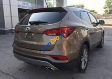 Bán Hyundai Santa Fe đời 2017, màu nâu
