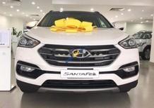 Bán Hyundai Santa Fe 2.2L 4WD đời 2017, màu trắng, giá tốt