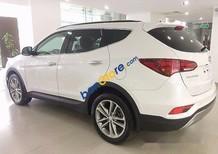 Bán ô tô Hyundai Santa Fe sản xuất năm 2017, màu trắng