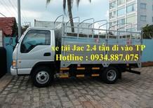 Bán xe tải Jac 2T4 – 2,4 tấn – 2.4 tấn thùng dài 3.7m đi vào thành phố ban ngày