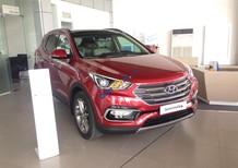 Bán Hyundai Santa Fe 2.4 năm 2017, màu đỏ