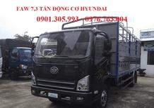 Bán xe tải Faw 7 tấn 3 máy Hyundai giá rẻ/ Faw 7 tấn 3 thùng dài 6m2 giá rẻ