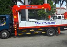 Xe tải cẩu 7 tấn Ollin700B gắn cẩu Kanglim 5 tấn 6 đốt KS1056S, vay trả góp lh O976548336