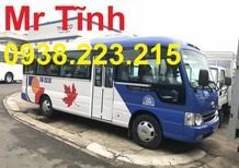 Cần bán xe khách 29 chỗ Thaco Hyundai County hb73s đòn dài màu vàng, xe nhập 3 cục Hyundai Hàn Quốc
