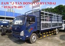 Xe tải faw 7,3 tấn động cơ Hyundai - faw 7.3 tấn - faw 7T3 (7 tấn 3),đời mới nhất