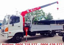 Xe tải cẩu Unic 3 tấn - Xe tải Hino 6T4/6.4 tấn gắn cẩu Unic URV344 3 tấn 4 khúc