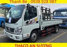 Xe tải Thaco Ollin 360 thùng lửng, giá chở kính, đời 2017, có máy lạnh