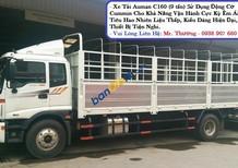 Xe tải Thaco Auman C160, tải trọng 9T3, thùng lửng, mui bạt, thùng kín