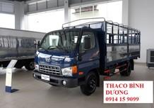 Cần bán xe Thaco Hyundai HD650 2017, thùng mui bạt 6,4 tấn giá tốt, liên hệ 0914159099