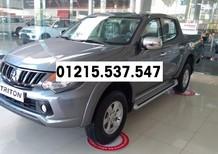 705 triệu | Bán xe Mitsubishi Triton Mivec 1 cầu đời 2018 màu xám, nhập nguyên chiếc, giá chỉ 705 triệu