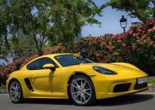 Cần bán lại xe Porsche Cayman 718 2017, màu vàng, nhập khẩu nguyên chiếc như mới