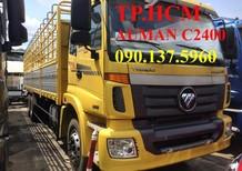 TP. HCM Thaco Auman C2400 14 tấn thùng mui bạt inox430, màu vàng