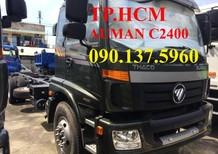 TP. HCM Thaco Auman C2400 14 tấn thùng kín inox430, màu xanh