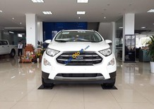 Bán xe Ford Ecosport Titanium 1.5L 2018, màu trắng mới 100%, hỗ trợ trả góp, bảo hành 03 năm