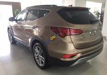 Bán xe Hyundai Santa Fe bản dầu đặc biệt, màu vàng cát. Hỗ trợ trả góp 80% - LH Hyundai Trường Chinh: 0902608293