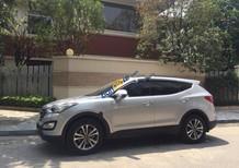 Bán xe Hyundai Santa Fe 2.4L đời 2015, màu bạc, không một lỗi nhỏ