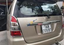 Bán Toyota Innova năm sản xuất 2013, màu vàng chính chủ, 552tr