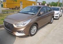 Hyundai Accent 1.4L AT tiêu chuẩn 2018, màu vàng cát, xe giao ngay giá tốt