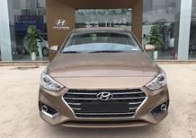 Hyundai Accent 1.4L AT tiêu chuẩn 2018, màu vàng cát, giá tốt xe giao ngay